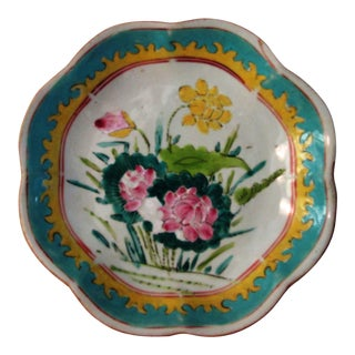 1940s Japanese Floral Footed Bowl