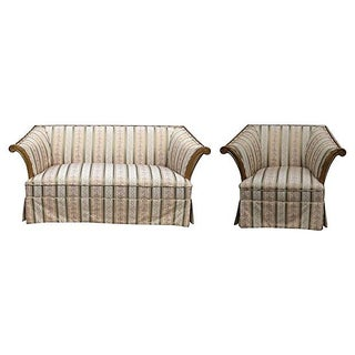 Italian Neoclassical Settee & Chair