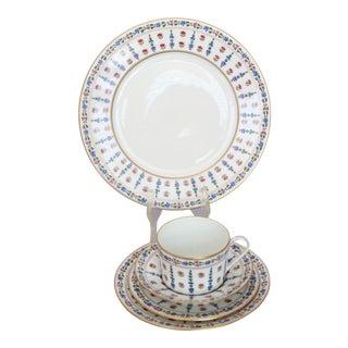 Royale Limoges France Vintage Floral Porcelain Dinnerware - Service for Eight (40pcs.)