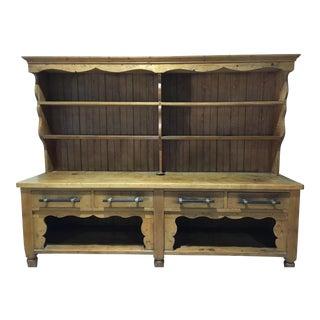 Reclaimed European Barnwood Sideboard & Hutch