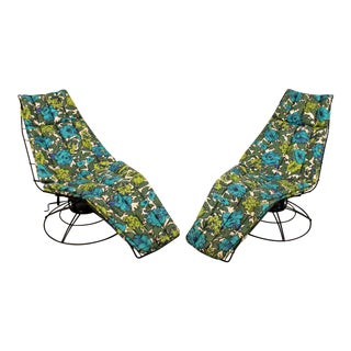 Bottemiller Homecrest Mid-Century Danish Modern Siesta Lounger Chairs - a Pair