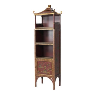 Chinoiserie Gilt Decorated Bookcase