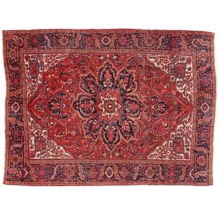 Vintage Persian Heriz Rug - 9′6″ × 12′9″