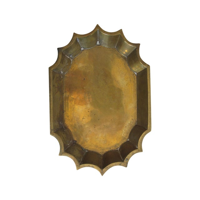 Brass Scalloped Catchall - Image 1 of 4