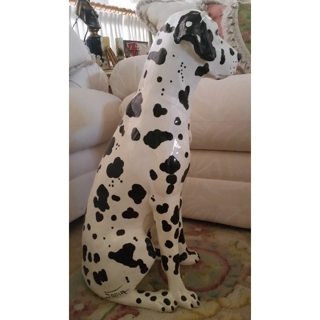 Image of Vintage Dalmatian Dog Full Size Porcelain Statue