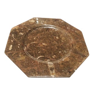 Decorative Natural Fossil Stone Octagon Plate