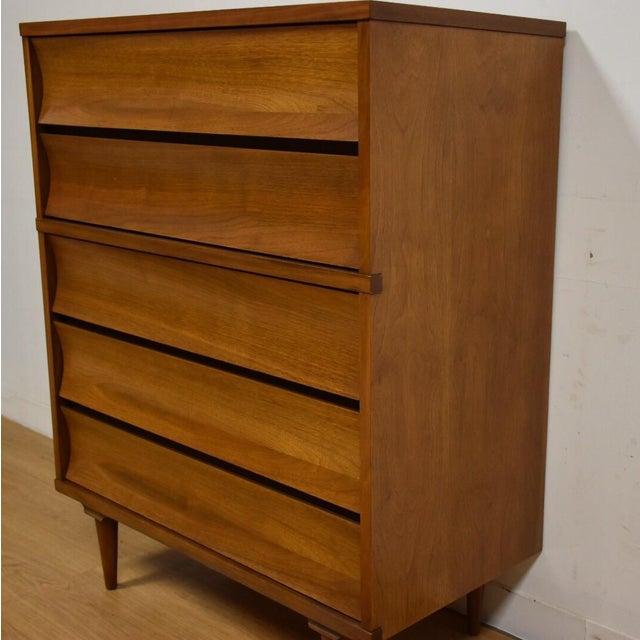 Johnson Carper Walnut and Formica Dresser - Image 4 of 7