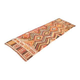 Vintage Turkish Kilm Rug - 3′1″ × 9′4″