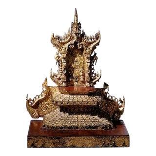 Burmese Giltwood Table Shrine