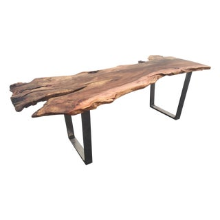 Live Edge Solid Slab Cottonwood Desk