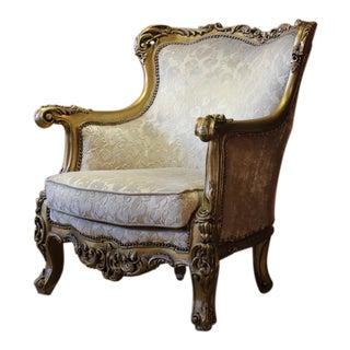 Giltwood Rococo Style Armchair