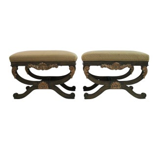 Neoclassical Gilt Benches - Pair