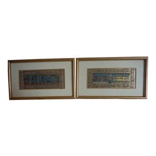 "Vintage ""Pattachitra"" Miniature Paintings - A Pair"