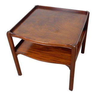 Baker Furniture Large 2 Tier Mahogany Table