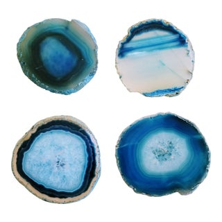 Natural Agate Coasters - Set of 4