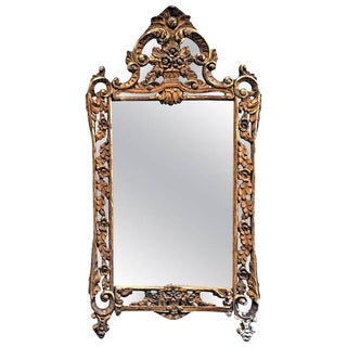 Louis XVI Style Parclose Mirror in Giltwood