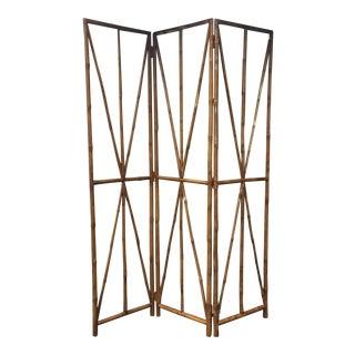 Faux Bamboo Folding Screen
