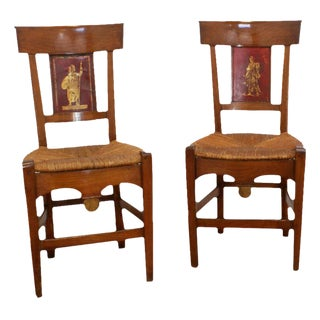 Painted Italian Side Chairs - A Pair