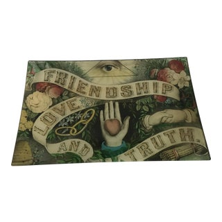Joh Derian Friendship, Love and Truth Letter Tray