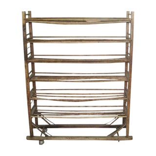 Wooden Shoe Rack on Wheels