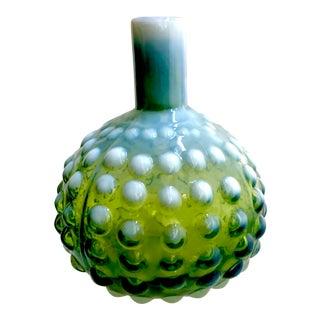 Handblown Green Hobnob Vase