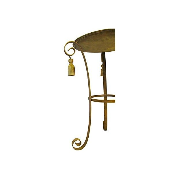 Metal Gold Tassel Table - Image 4 of 4