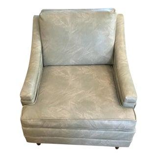 Seafoam Green Vinyl Club Chair
