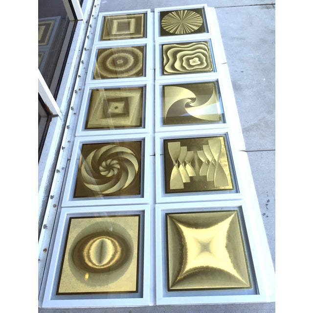French Metallic Style Abstract Prints - 10 - Image 3 of 9