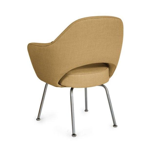 Saarinen Executive Armchairs in Gold Woven-Microfiber, Set of Six - Image 3 of 5