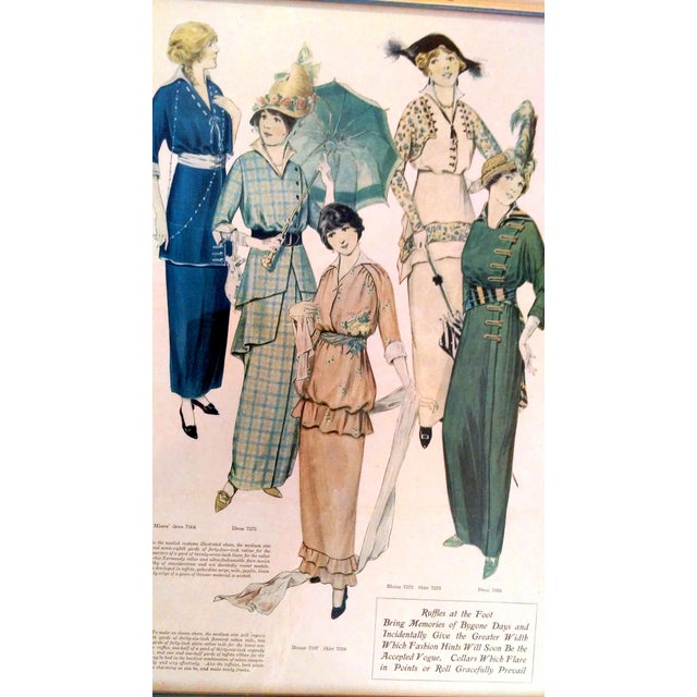 Framed Antique Fashion Advertisements- A Pair - Image 4 of 8