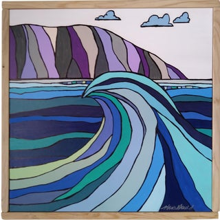 """Hawaiian Wave"" Original Block Art by Kris Gould"