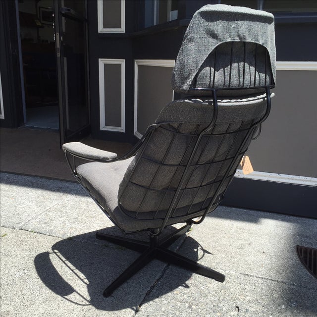 Homecrest Metal Wire Chair With Upholstery - Image 4 of 8