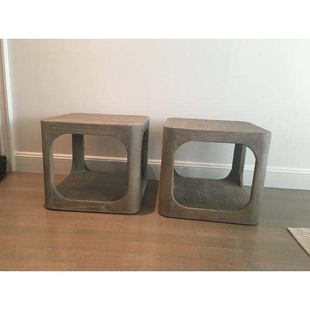 Restoration Hardware Mertens Side Tables- A Pair - Image 2 of 3