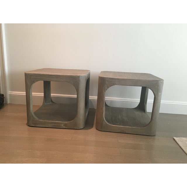 Image of Restoration Hardware Mertens Side Tables- A Pair