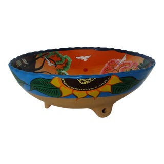 Mexican Ceramic Footed Bowl