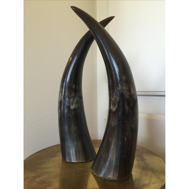Sculptural Horns - A Pair - Image 2 of 3