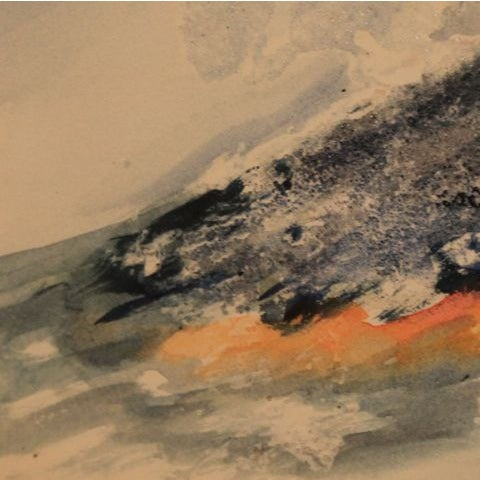 "Mixed Media Artwork - ""Erupting Volcano"" - Image 5 of 6"