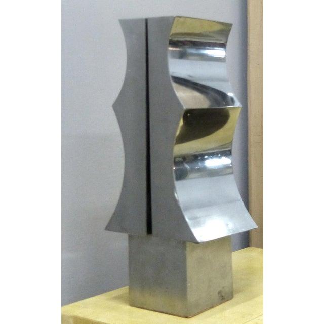Image of 1970s Modernist Aluminum Sculpture by Yutaka Toyota