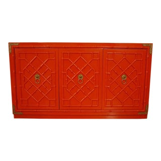 Huntley by Thomasville Red Buffet With Fretwork