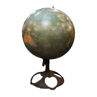Art Nouveau 1910 Johnson Terrestrial Globe