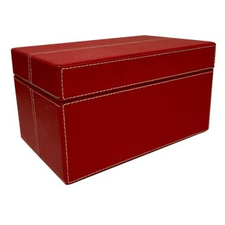 Nava Design Saffiano Red Leather Box