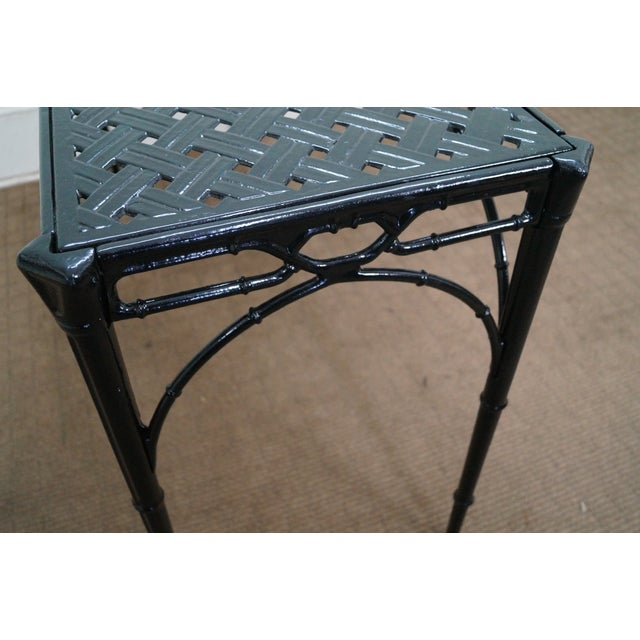 Image of Hollywood Regency Aluminum Patio Console Table