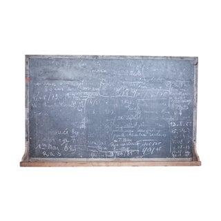 Belgian 1930s Stone School Chalkboard