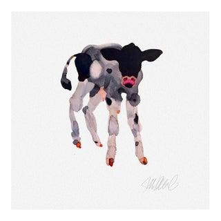 Calf Watercolor Print