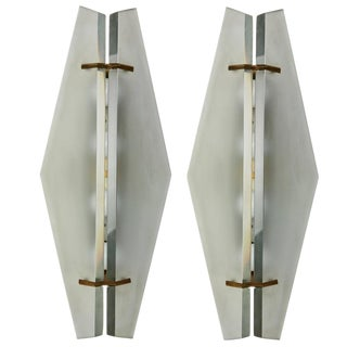 Rare Pair of No. 1937 Wall or Ceiling Light by Max Ingrand for Fontana Arte