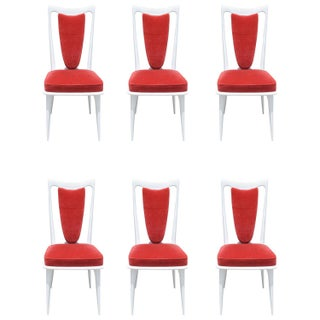 Mid Century Lacquered Dining Chairs - Set of 6