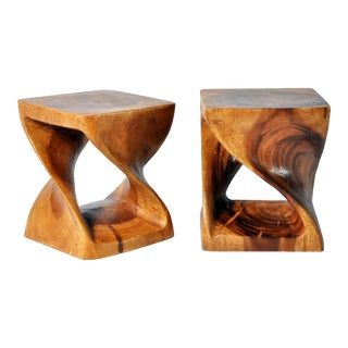 Hand-Carved Stool