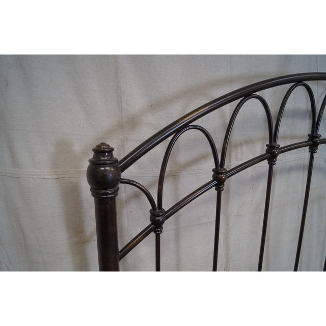 Victorian Style Iron Queen Size Bed - Image 5 of 10