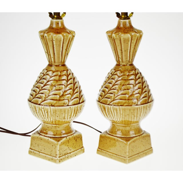 Vintage Ceramic Glazed Table Lamps - A Pair - Image 6 of 10