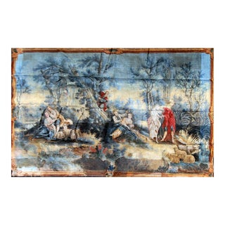 Large Rococo Wall Hanging Tapestry 19th Century
